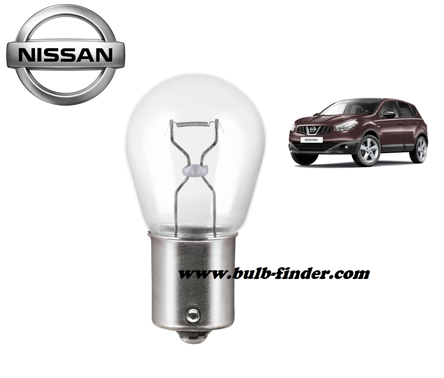 Nissan Qashqai bulb model for driving backward