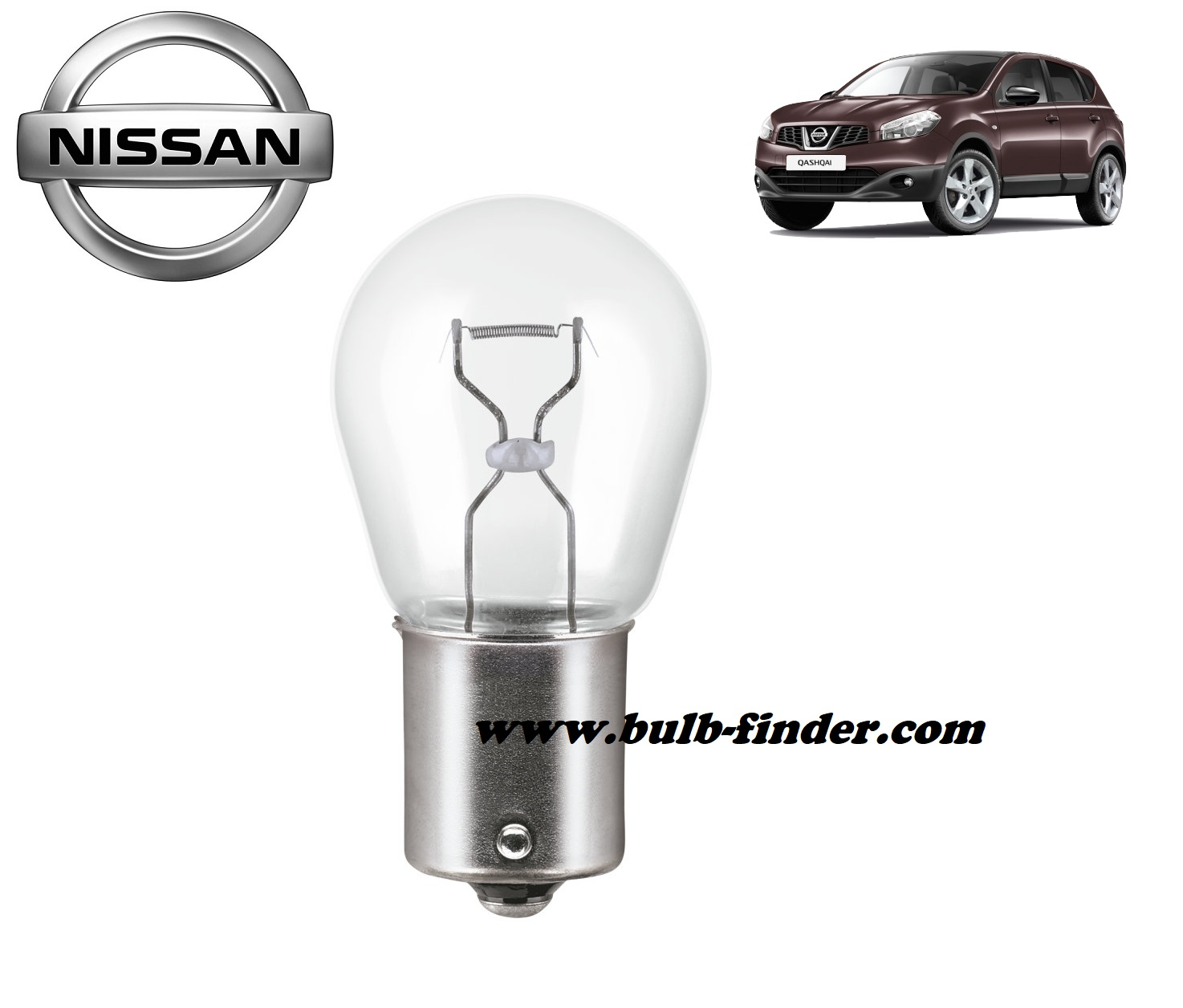 Nissan Qashqai bulb model REAR FOG LAMP