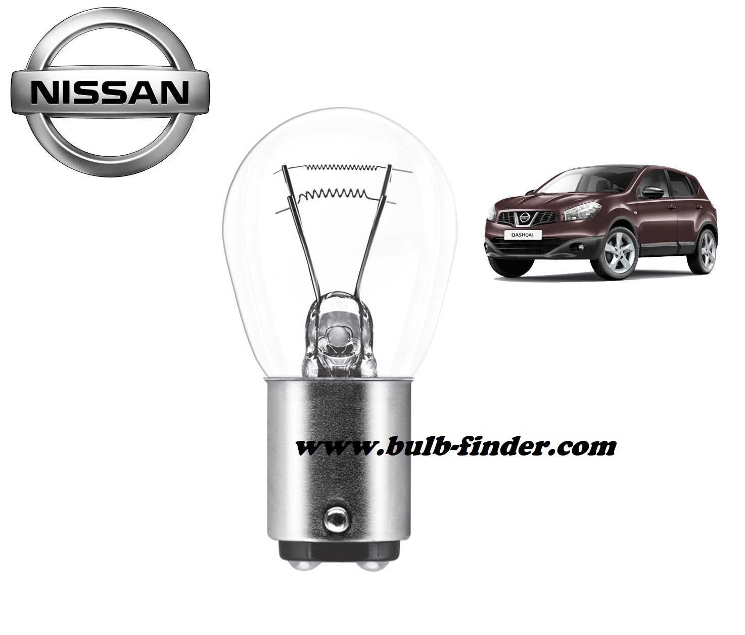 Nissan Qashqai bulb model TAIL LIGHT