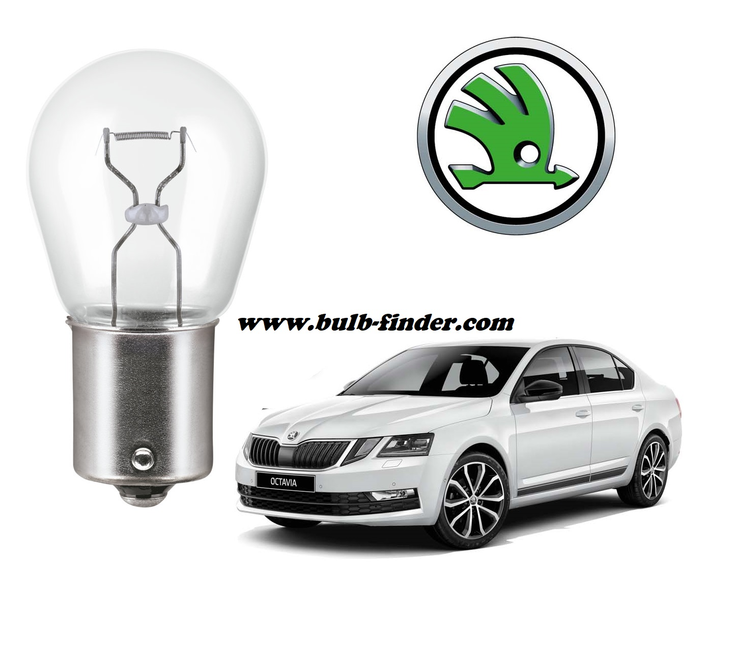 Skoda Octavia bulb model rear fog light