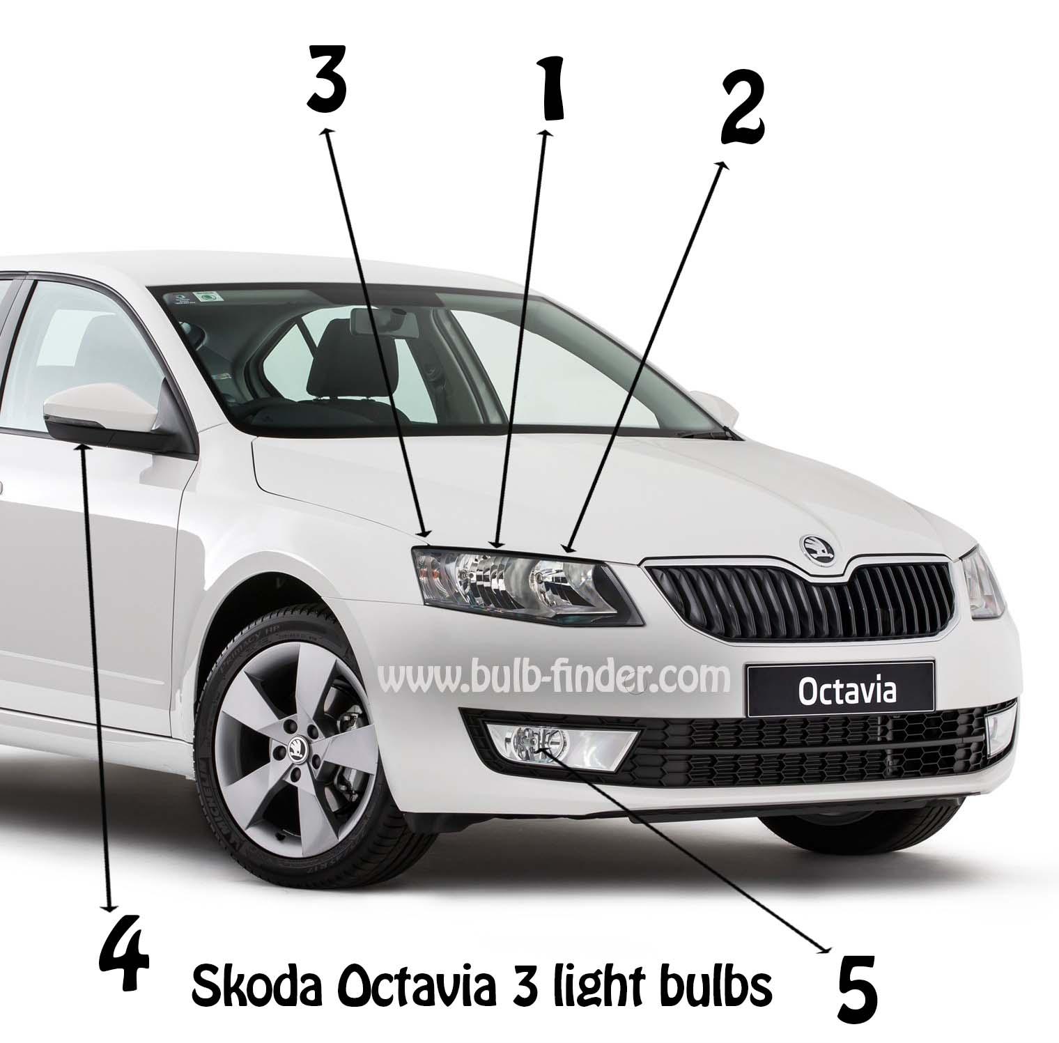 Skoda Octavia mk3 bulb replacement