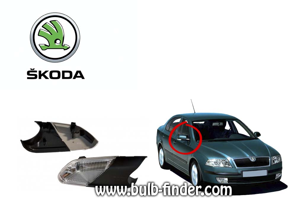 Skoda Octavia model of bulbs from mirror turn signal