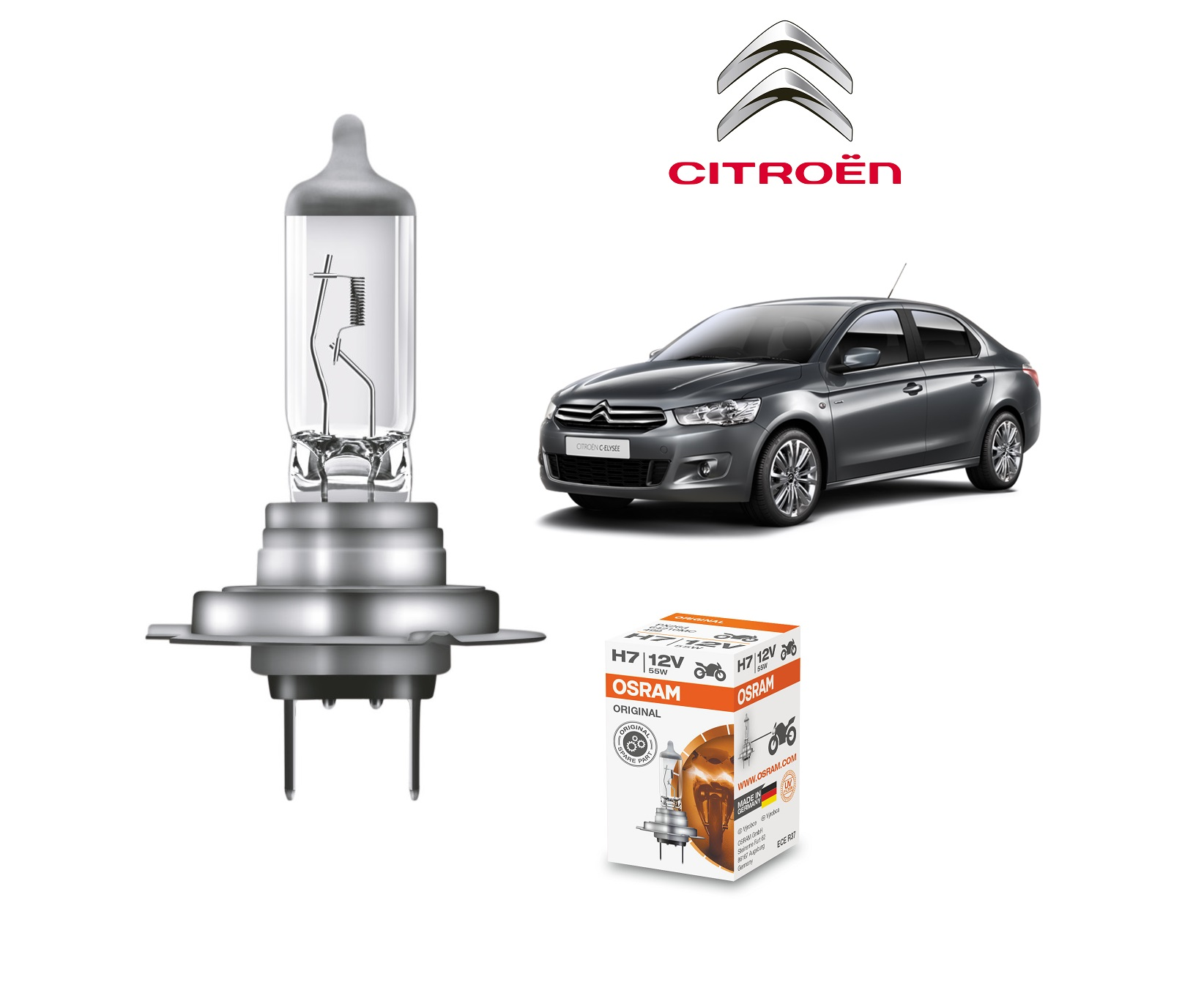 Citroen C-Elysee bulb type LOW BEAM HEADLIGHT