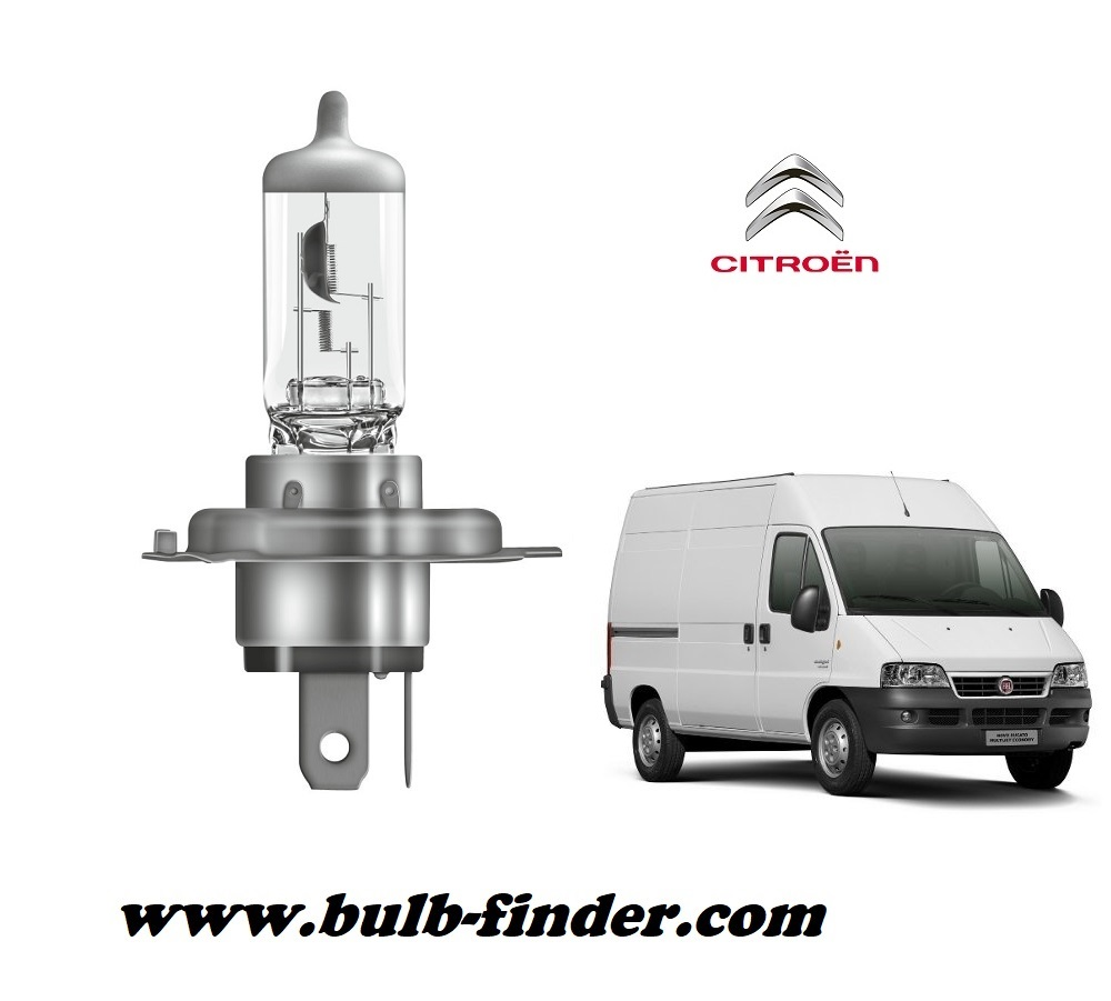 Citroen Relay or Jumper bulb model LOW BEAM specification