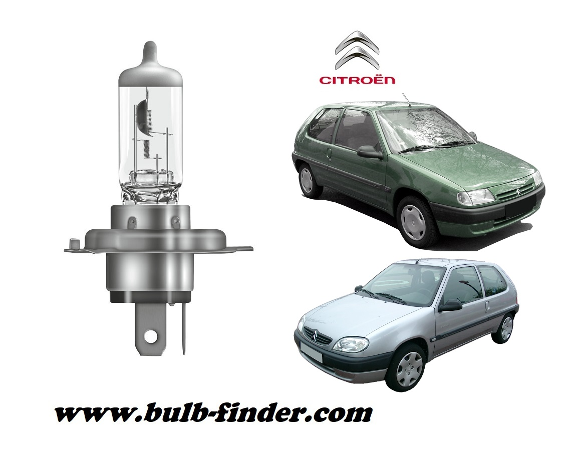 Citroen Saxo bulb model LOW BEAM specification