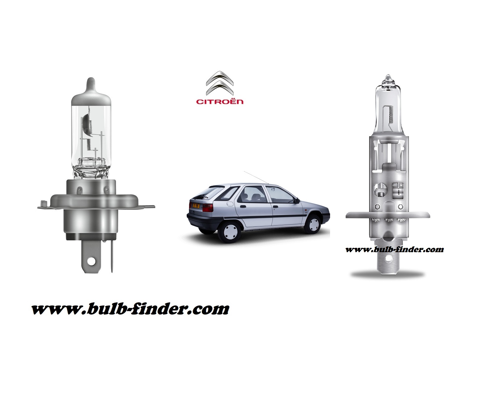 Citroen ZX bulb model LOW BEAM specification