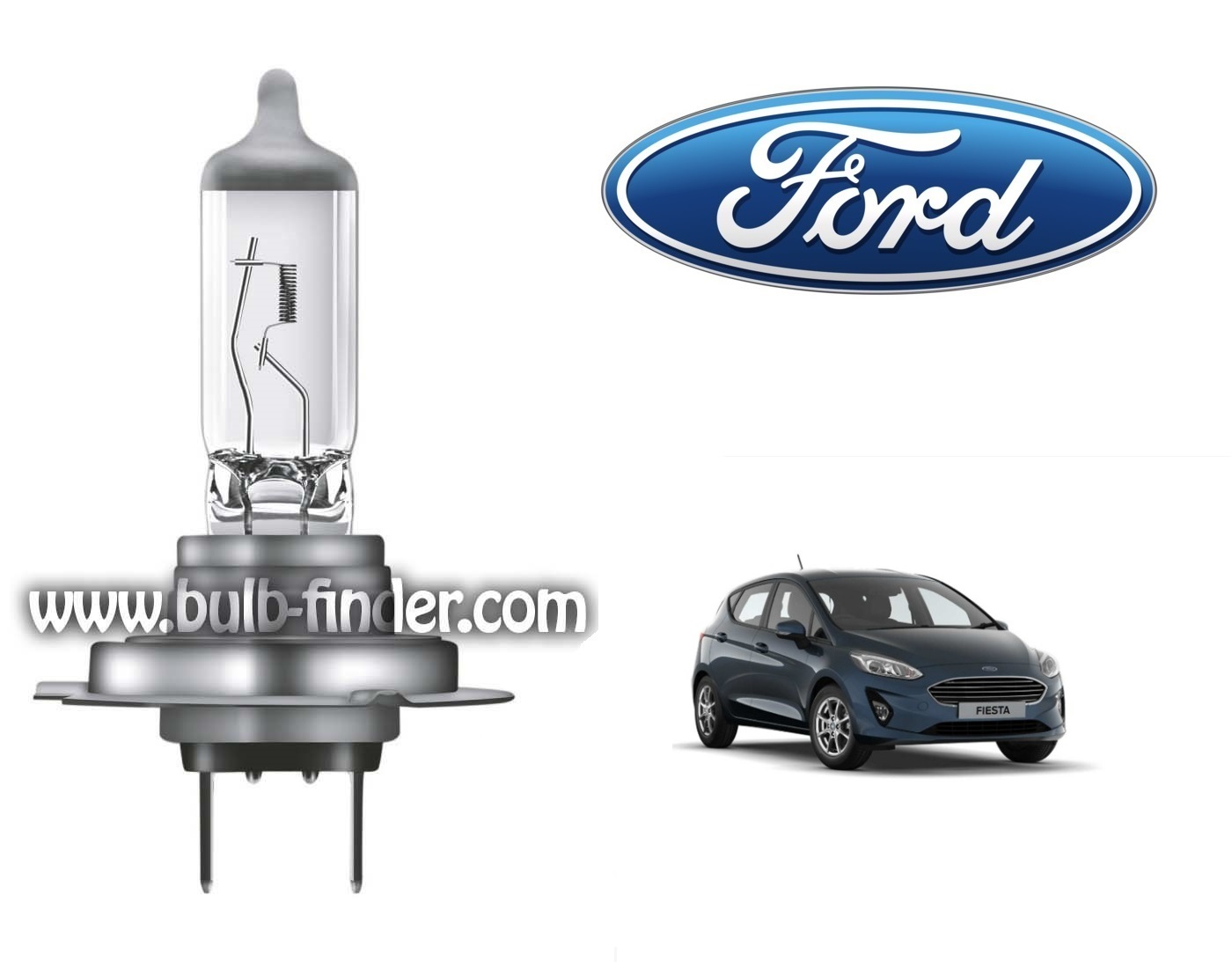 Ford Fiesta 7 bulb model LOW BEAM specification