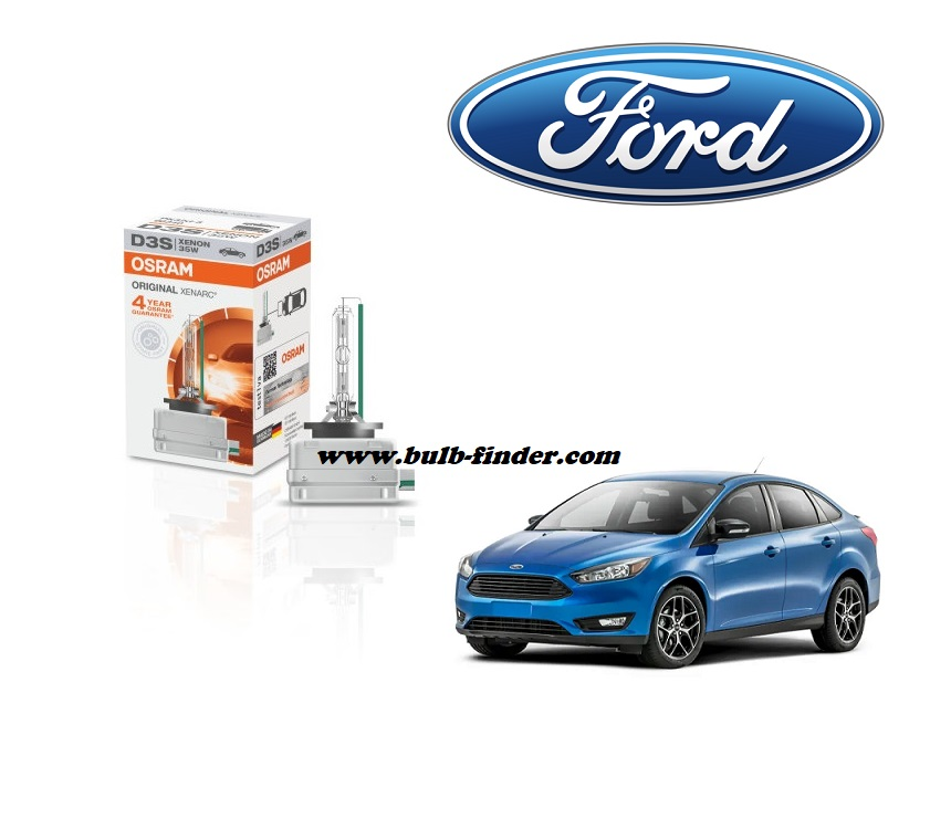 Ford Focus 3 bulb model LOW BEAM specification