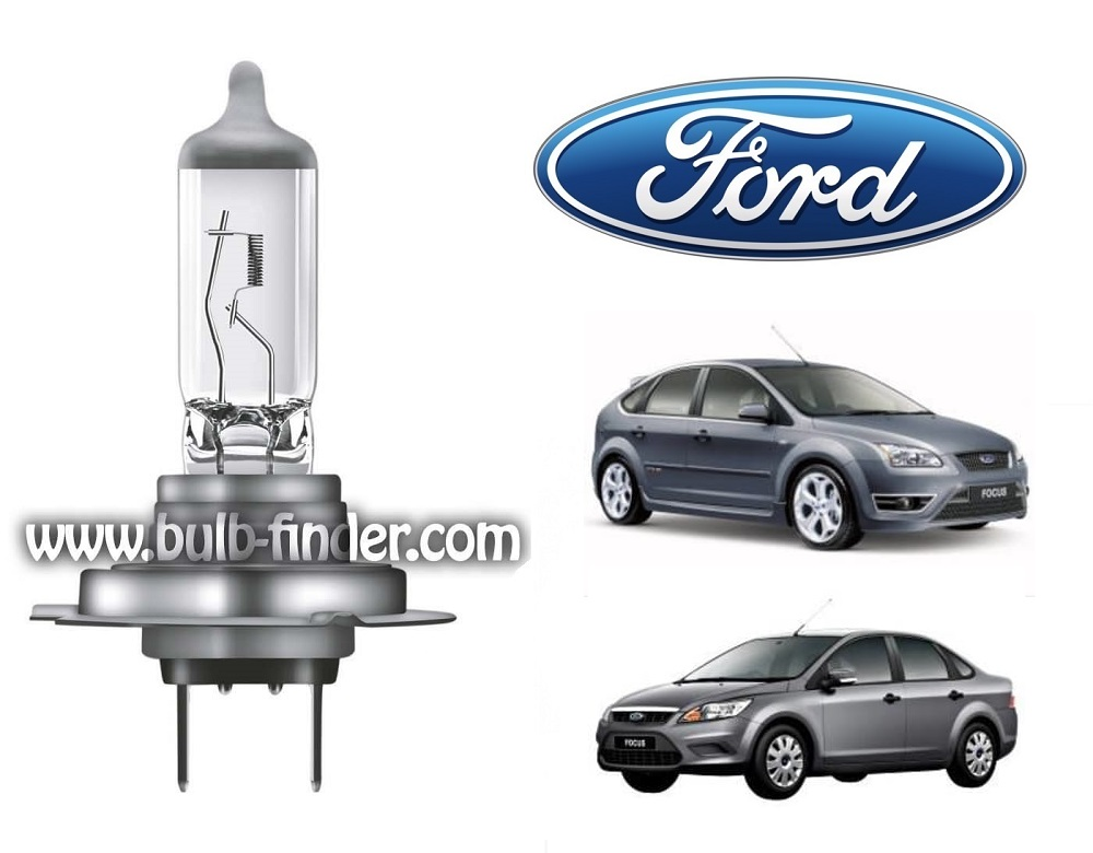 Ford Focus 2 bulb model LOW BEAM specification