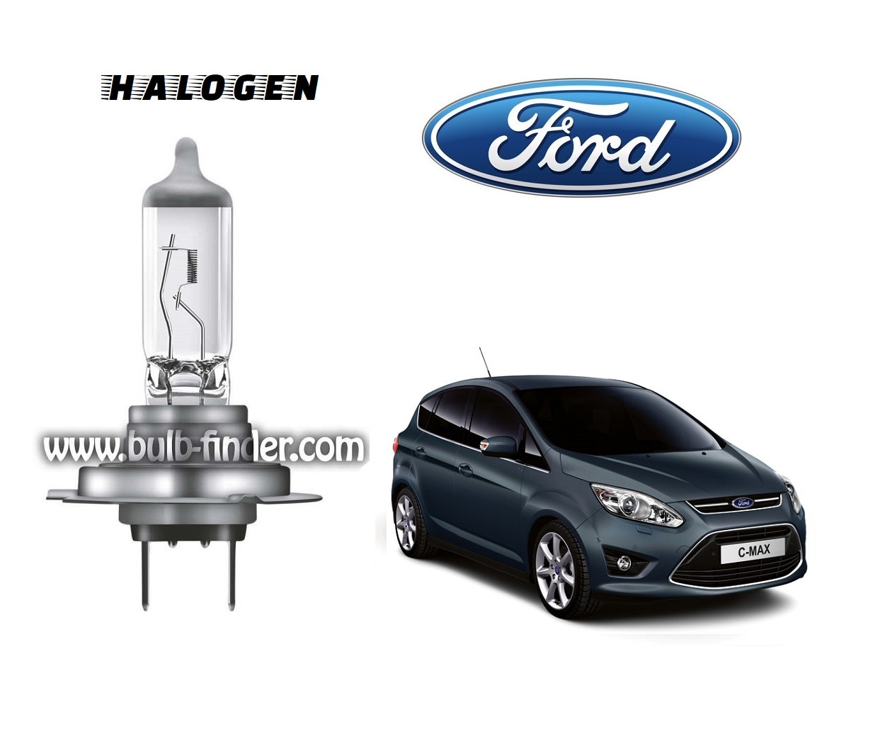 Ford Grand C-Max bulb model LOW BEAM specification