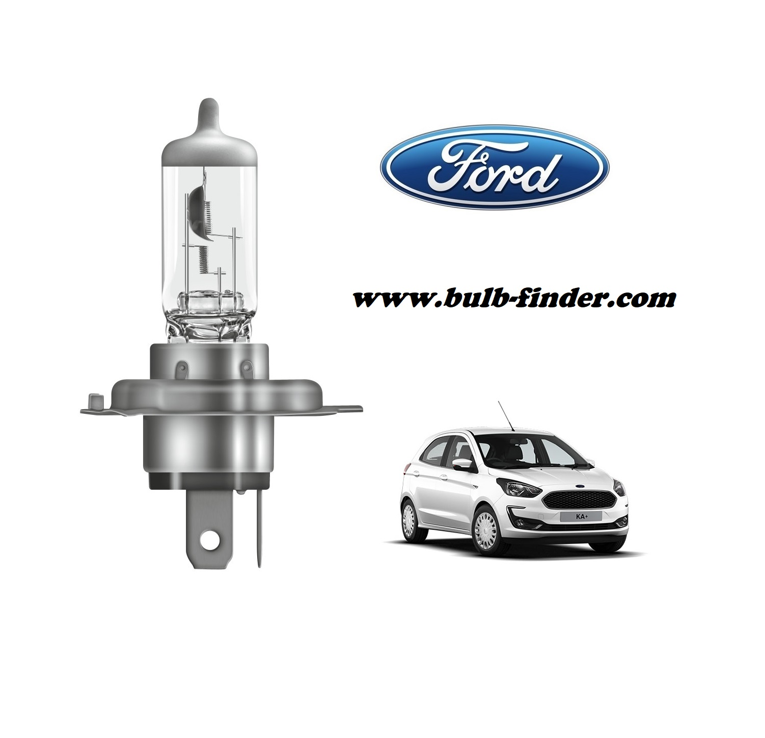 Ford Ka plus bulb model LOW BEAM specification