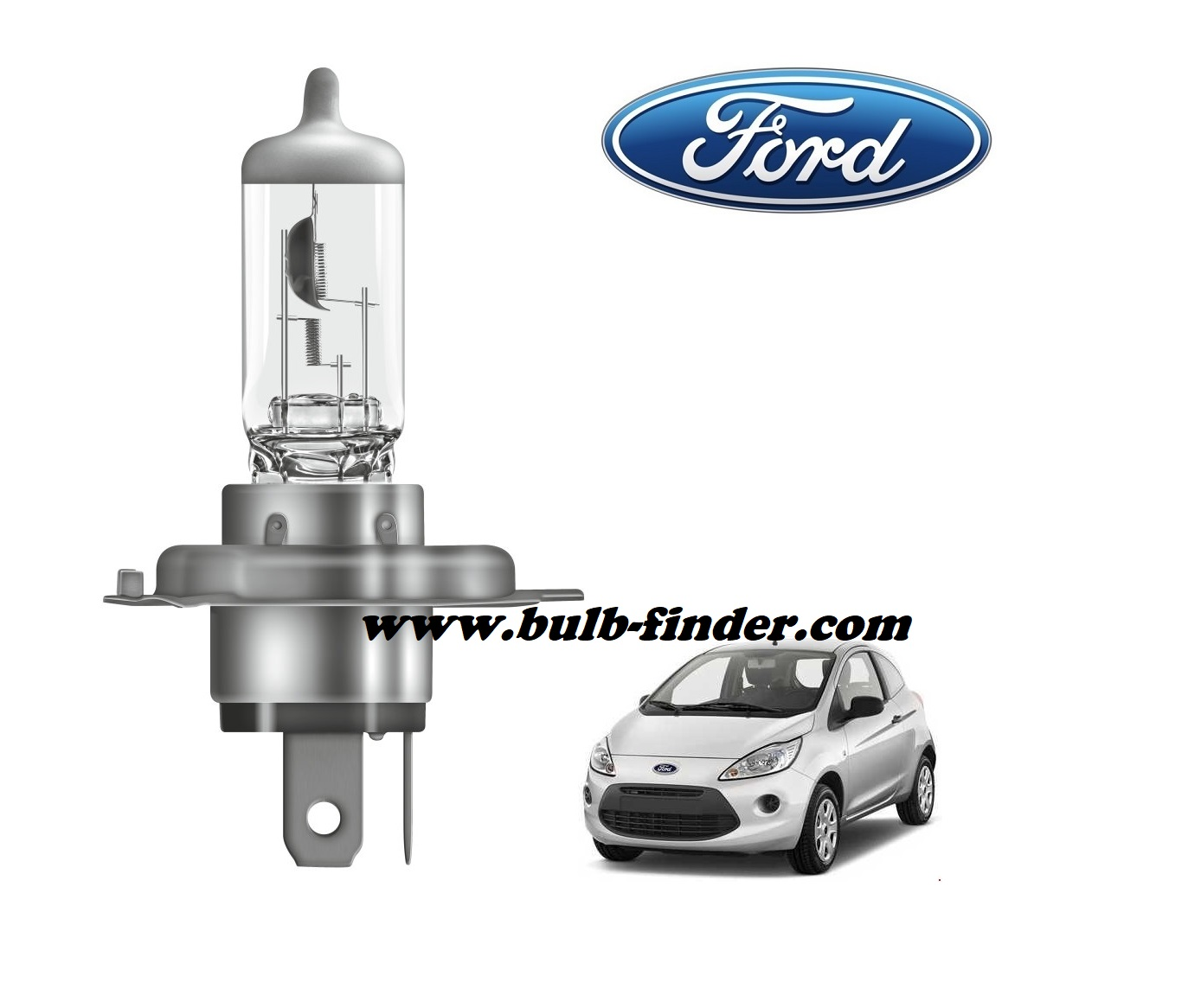 Ford Ka 2 bulb model LOW BEAM specification