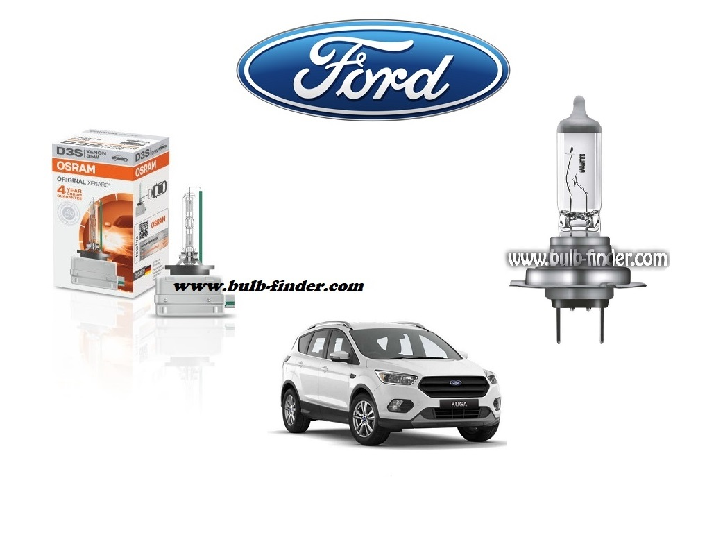 Ford Kuga 2 bulb model LOW BEAM specification