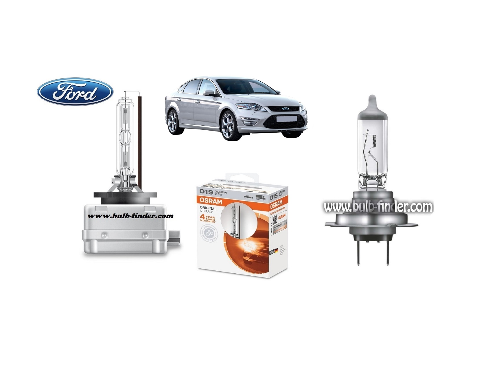 Ford Mondeo 4 bulb model LOW BEAM specification