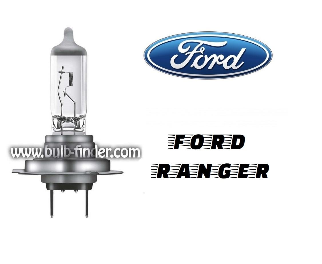 Ford Ranger mk3 bulb model LOW BEAM specification