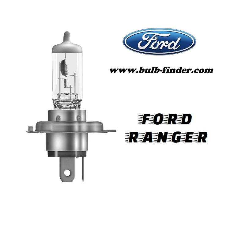 Ford Ranger 3 bulb specification for halogen headlamp with projector from 2019 HIR2 SKU 9012
