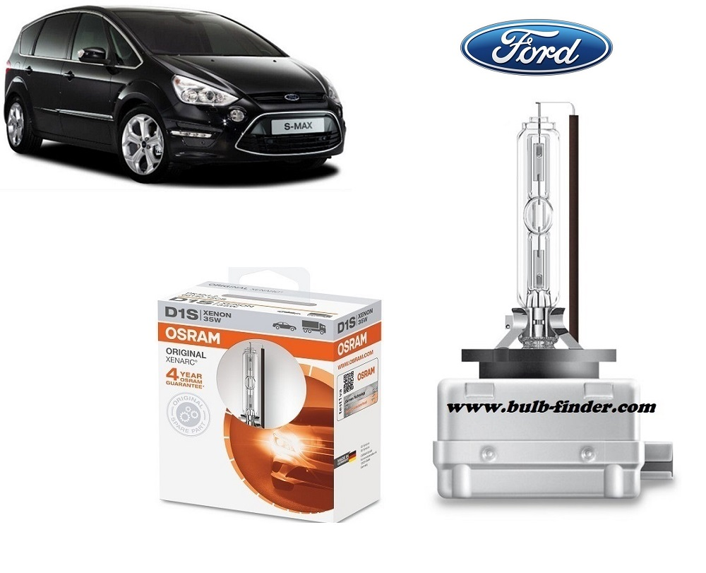 Ford S-MAX 1 bulb model LOW BEAM specification