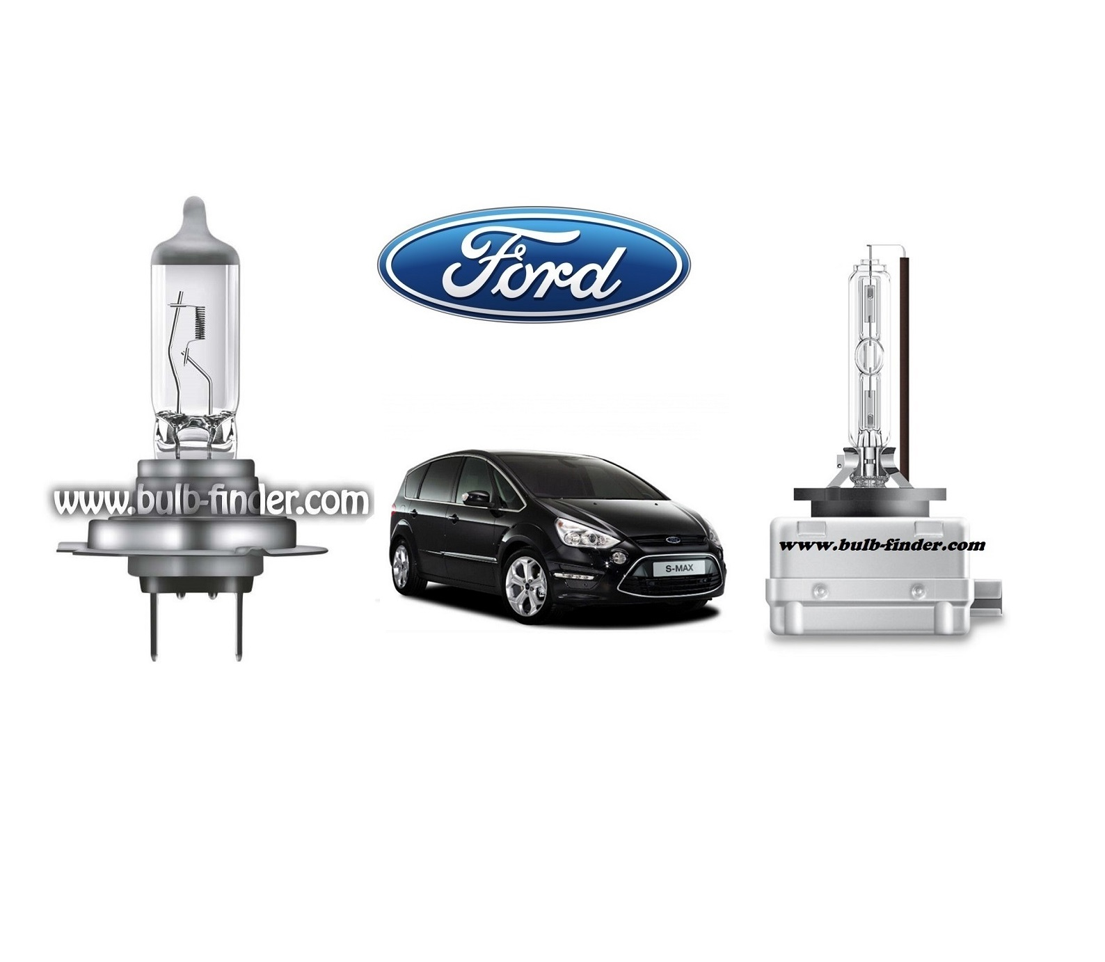 Ford S-MAX Mk1 bulb model LOW BEAM specification