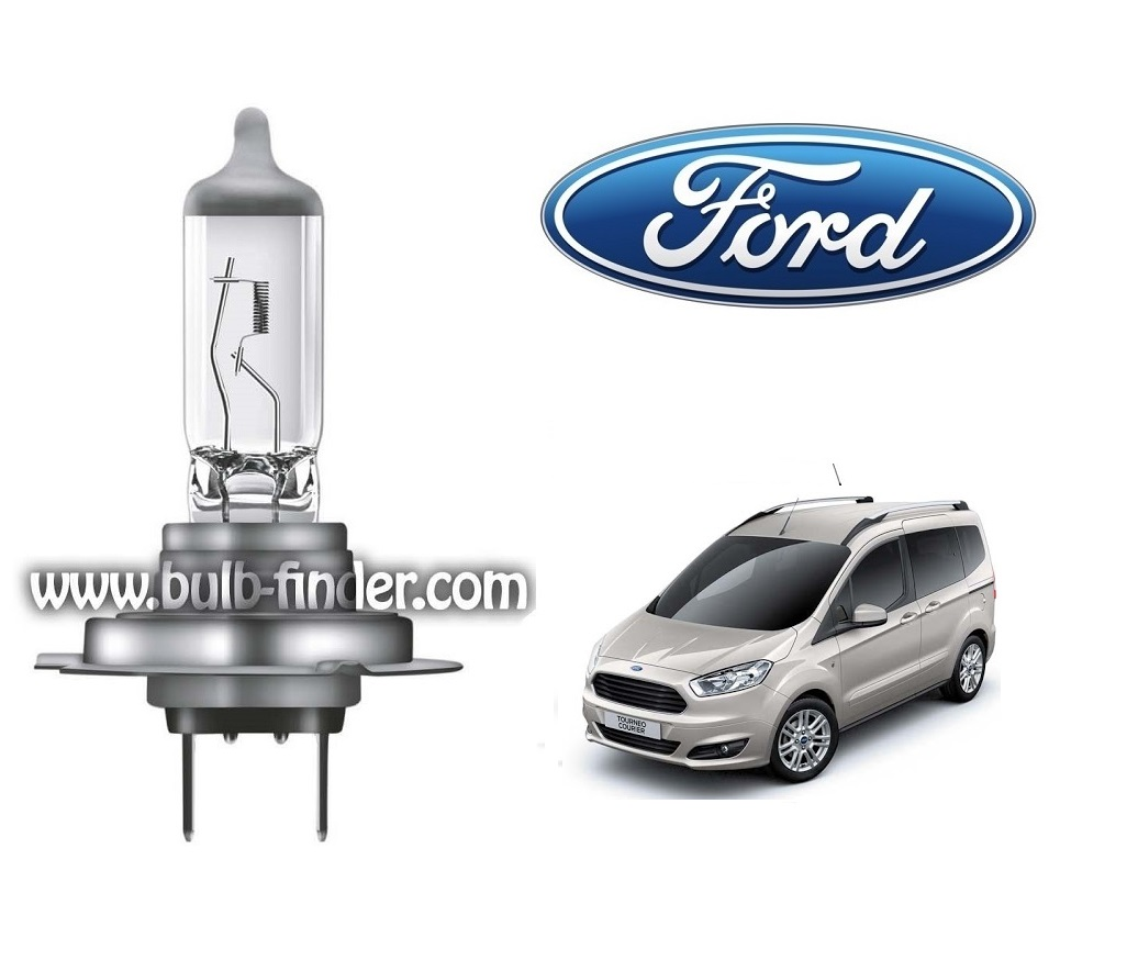 Ford Tourneo Courier 1 bulb model LOW BEAM specification