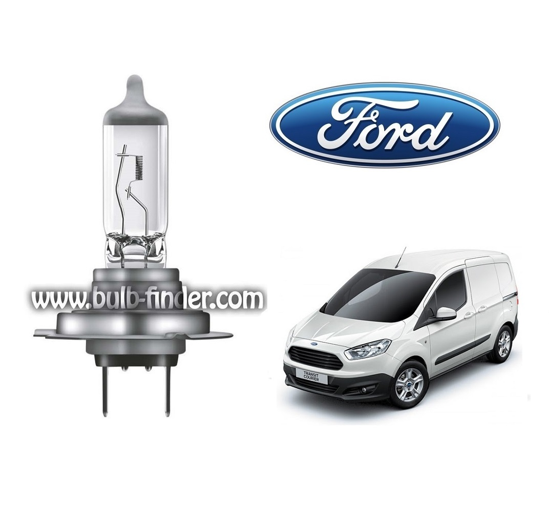 Ford Transit Courier bulb model LOW BEAM specification