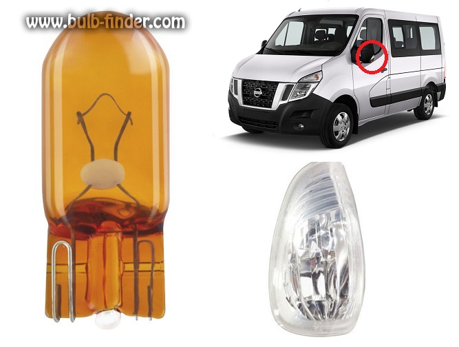 Nissan NV400 bulbs specification for halogen headlamp