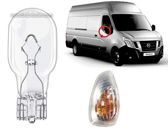 Nissan NV 400 bulbs specification for halogen headlamp