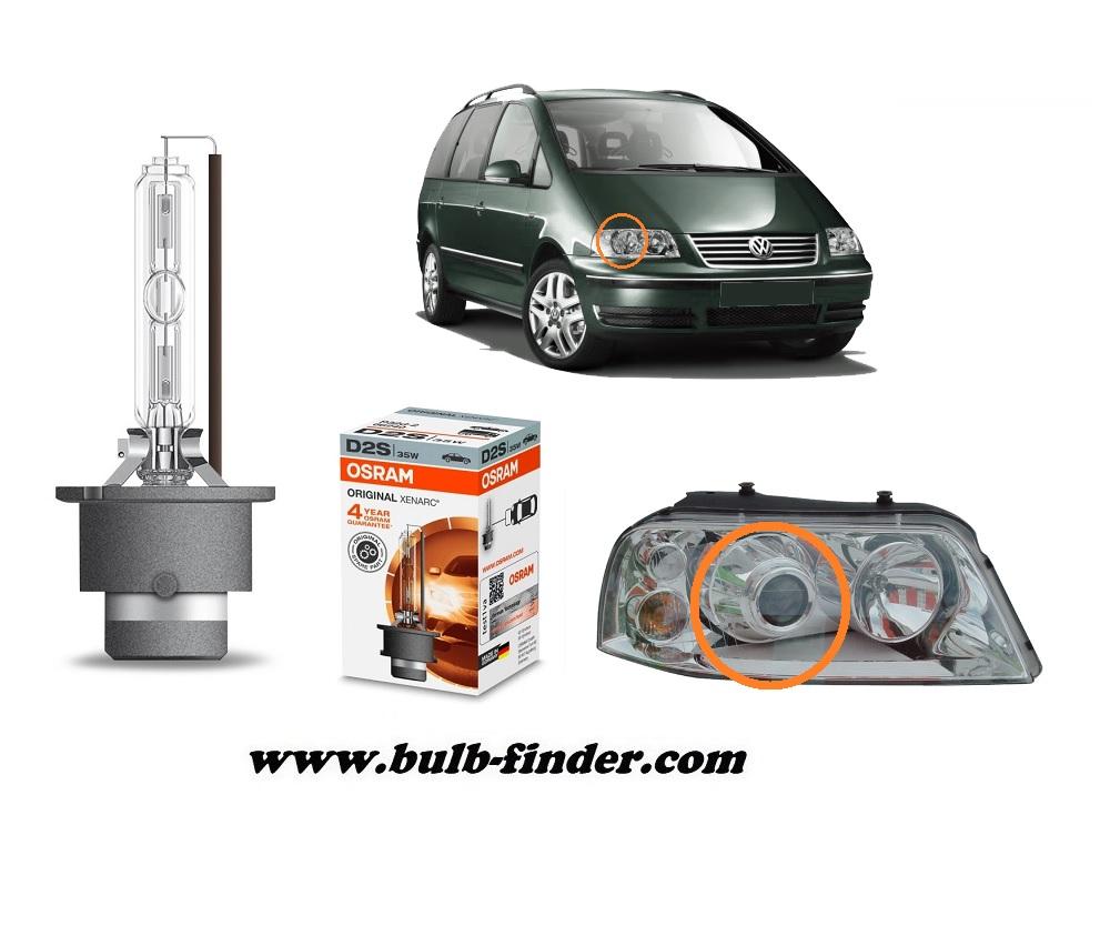 VW Sharan model bulb for LOW BEAM HEADLIGHT specification