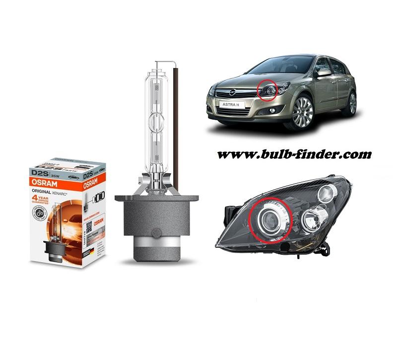 Vauxhall Astra Mk5 bulbs specification for halogen headlamp