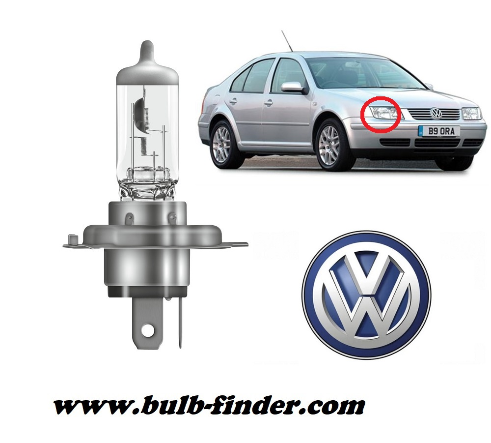 VW Bora model bulb for LOW BEAM HEADLIGHT specification