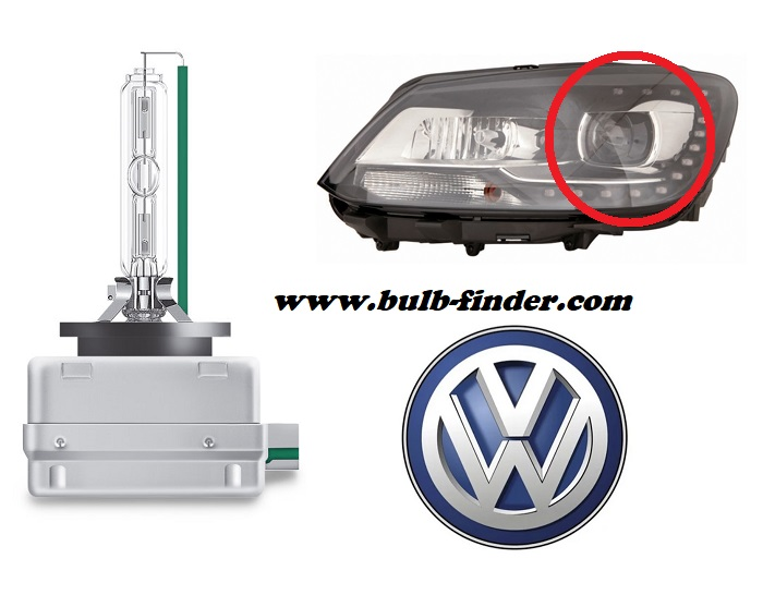 VW Caddy 3 model bulb for LOW BEAM HEADLIGHT specification