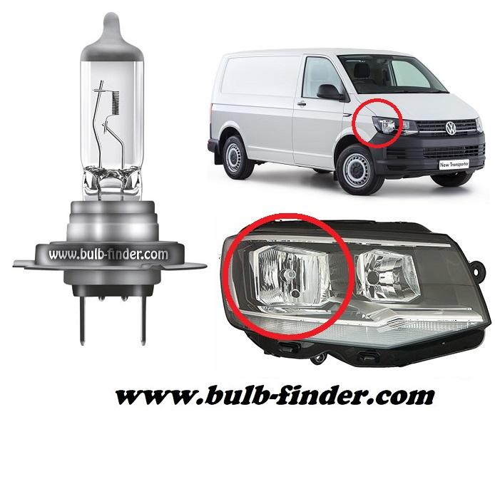 VW Caravelle Mk6 model bulb for LOW BEAM HEADLIGHT specification