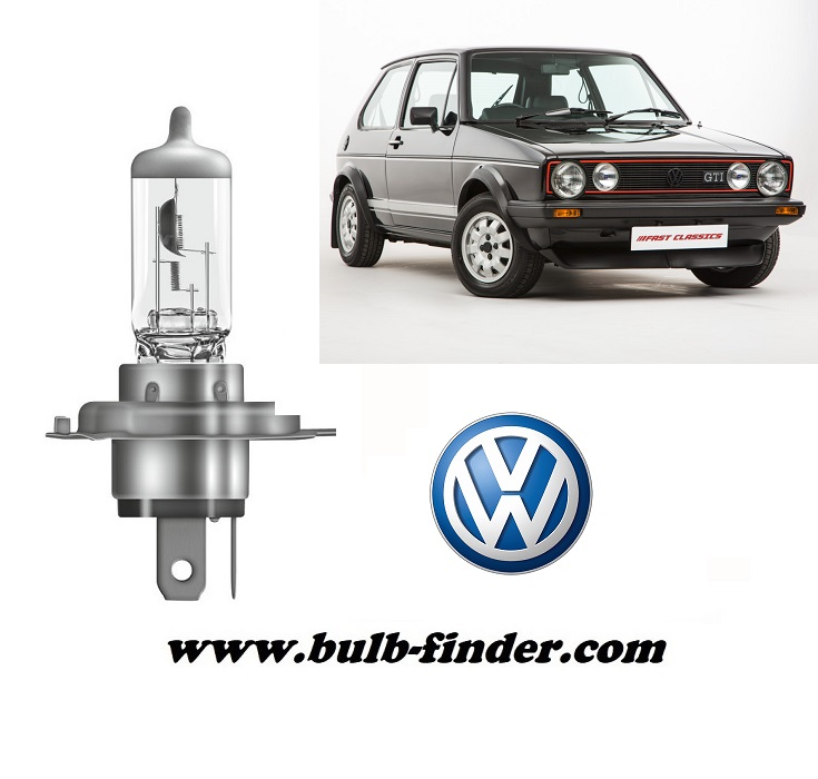 VW Golf mk2 model bulb for LOW BEAM HEADLIGHT specification