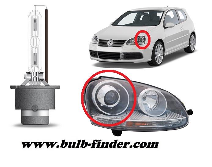 VW Golf mk5 model bulb for LOW BEAM HEADLIGHT specification