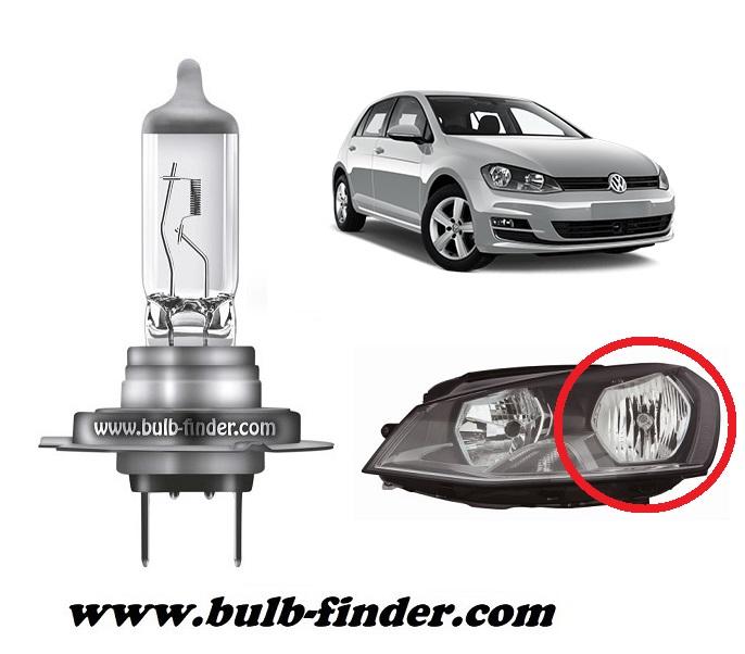 VW Golf mk7 model bulb for LOW BEAM HEADLIGHT specification