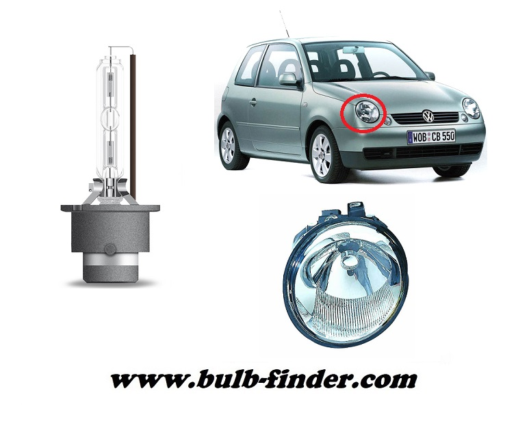 VW Lupo model bulb for LOW BEAM HEADLIGHT specification