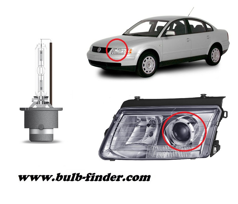 VW Passat B 5 model bulb for LOW BEAM HEADLIGHT specification