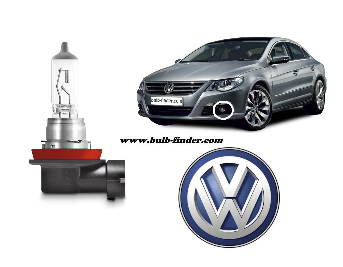 VW Passat CC 2008-2012 bulb type FRONT FOG LIGHT spec