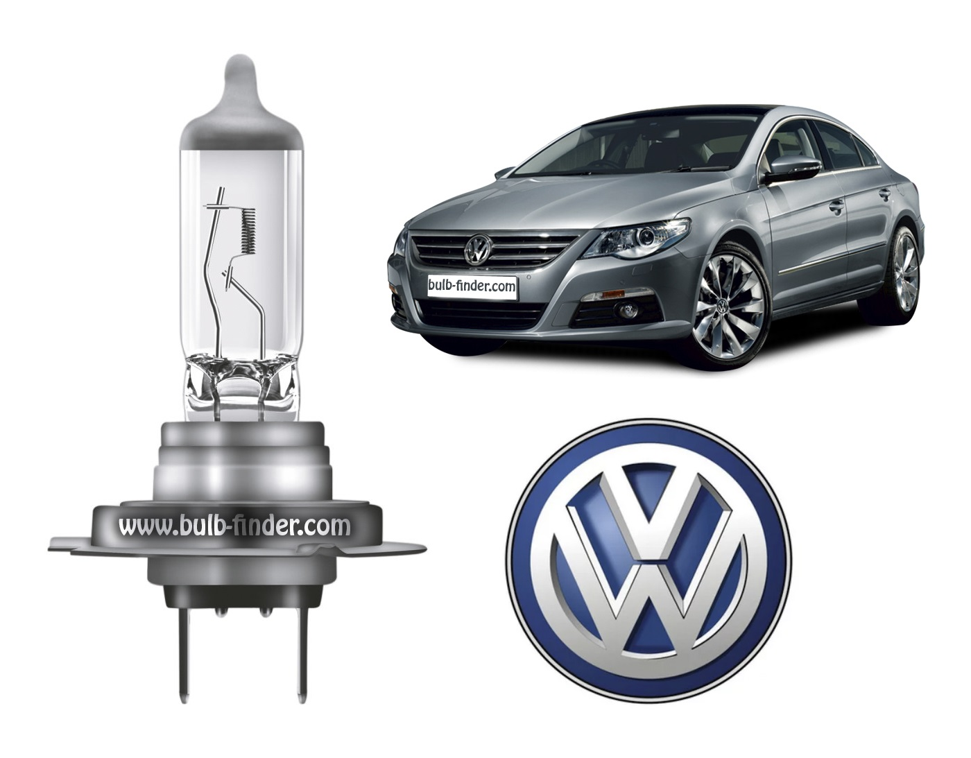 VW Passat CC 2008-2012 bulb type HIGH BEAM HEADLAMP specification