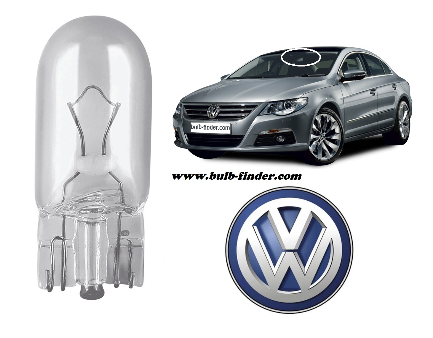 VW Passat CC 2008-2012 bulb type INTERIOR CEILING LIGHT spec