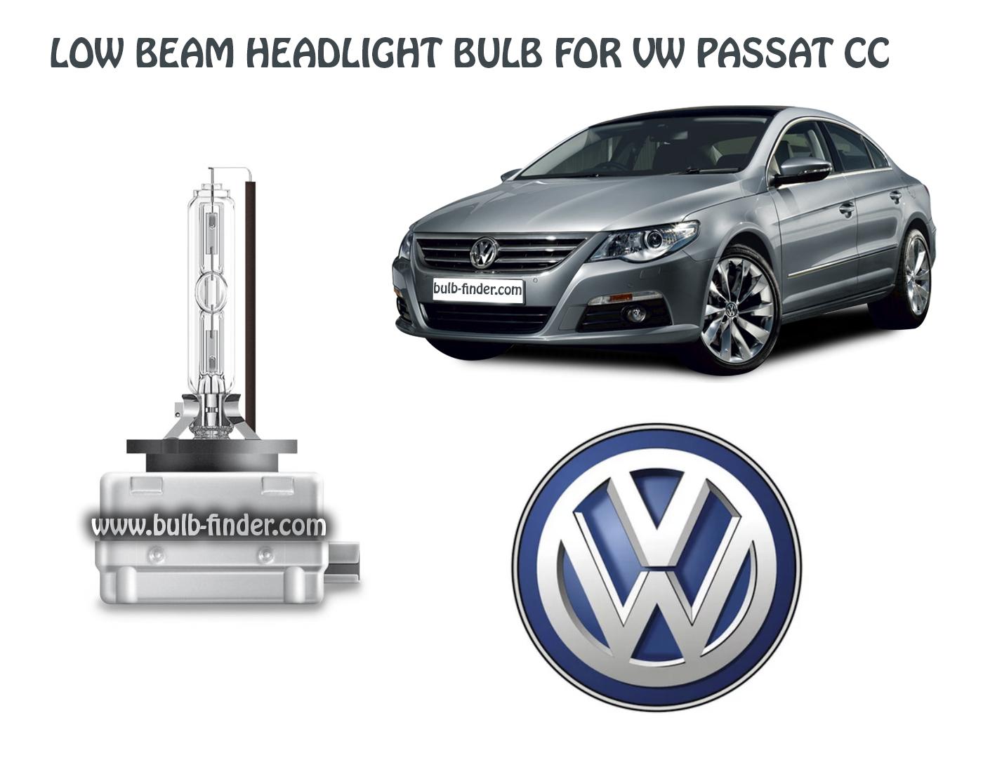 VW Passat CC bulb model LOW BEAM specification