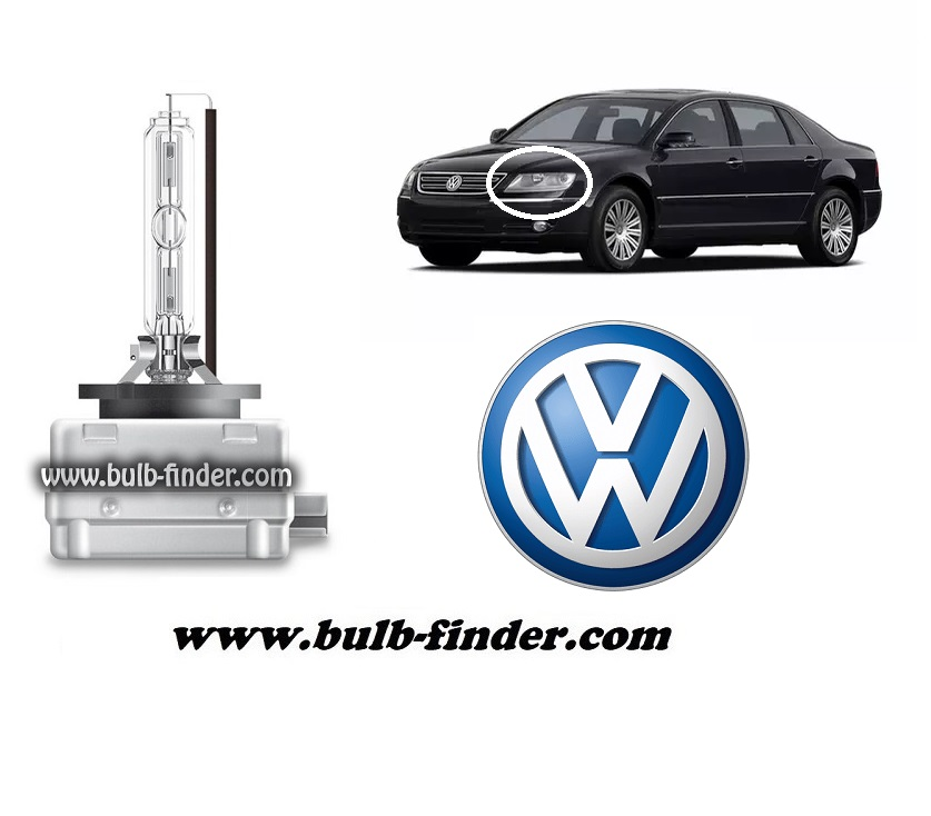 VW Phaeton model bulb for LOW BEAM HEADLIGHT specification