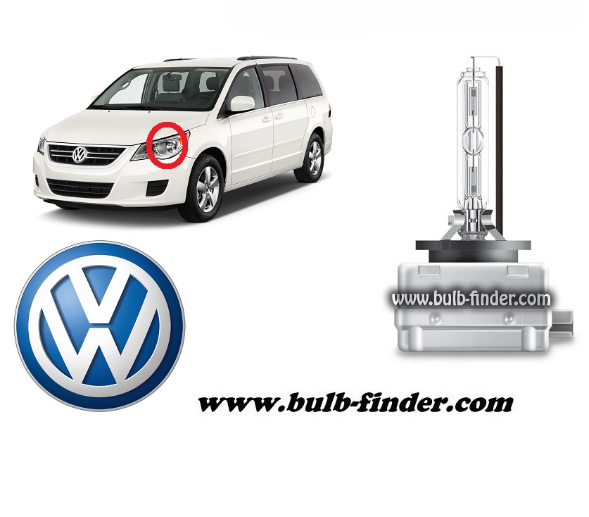 VW Routan model bulb for LOW BEAM HEADLIGHT specification