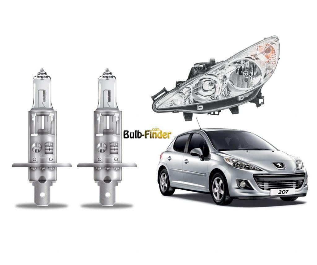 Peugeot 207 bulb spec for headlamp hight beam
