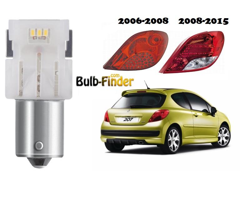 Peugeot 207 stop bulb model