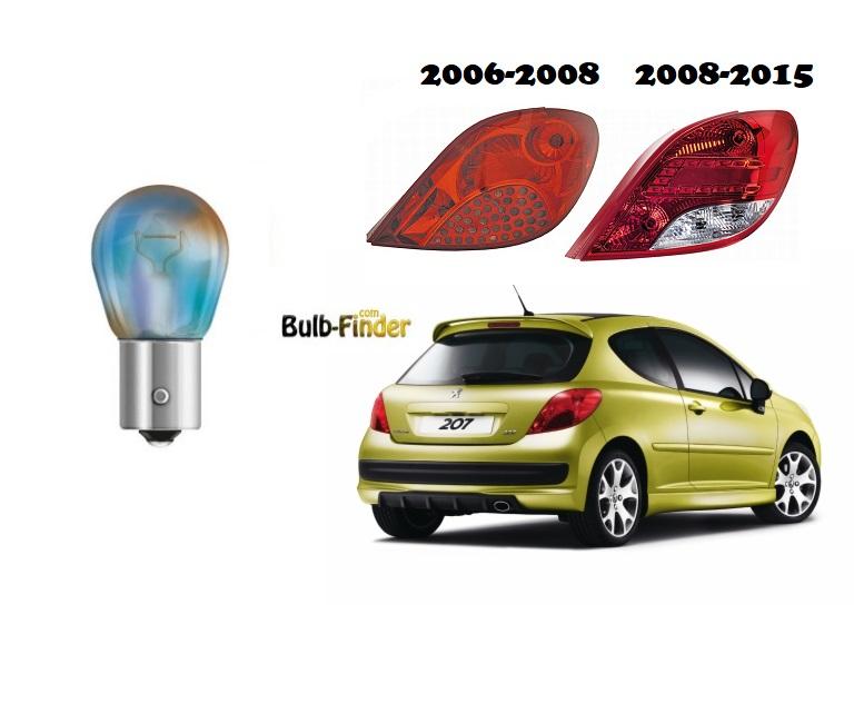 Peugeot 207 back lamp yellow bulb for turn signal