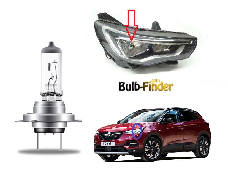 Vauxhall Grandland bulbs model