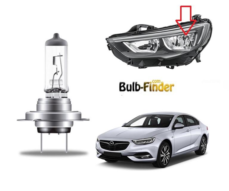 Vauxhall Insignia Mk2 bulbs model