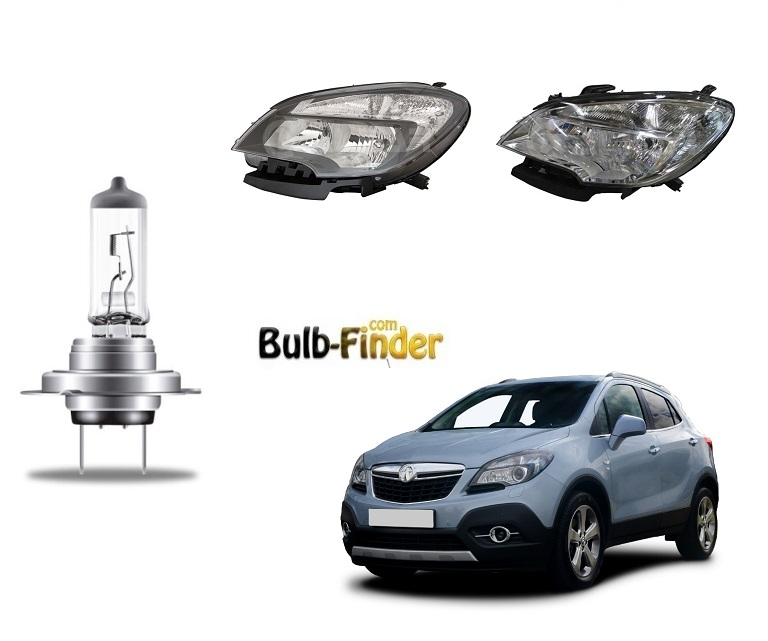Vauxhall Mokka bulbs model