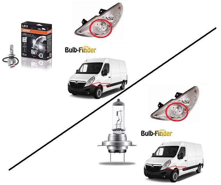 Vauxhall Movano bulb type