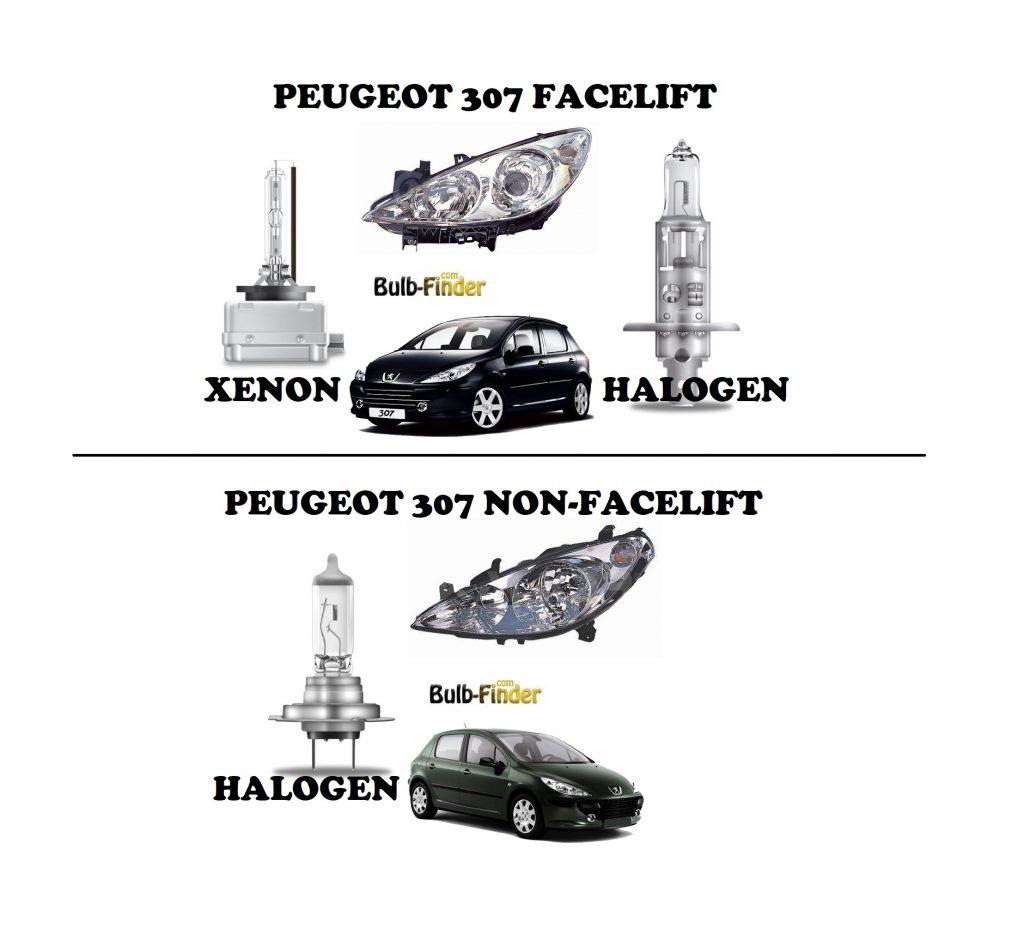 Peugeot 307 BULBS TYPE